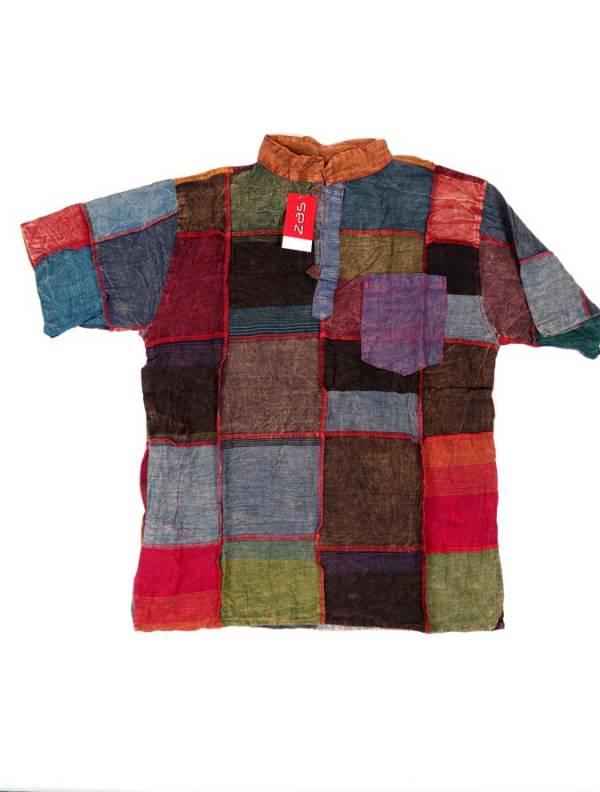 Camisa hippie patchwork [CMHC12] para comprar al por Mayor o Detalle en la categoría de Camisas de Manga Corta