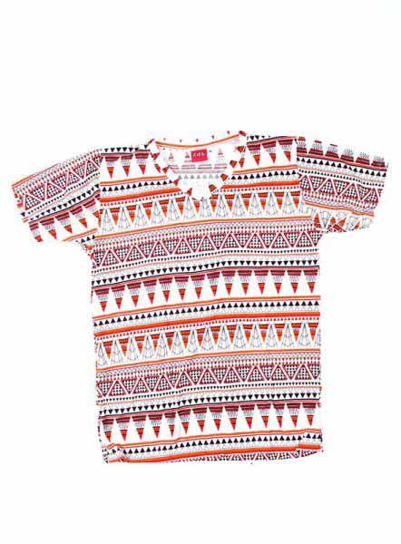 Camiseta estampados étnicos, camiseta tshirt 100% algodón con estampados étnicos y cuello en v - Comprar al Mayor o Detalle
