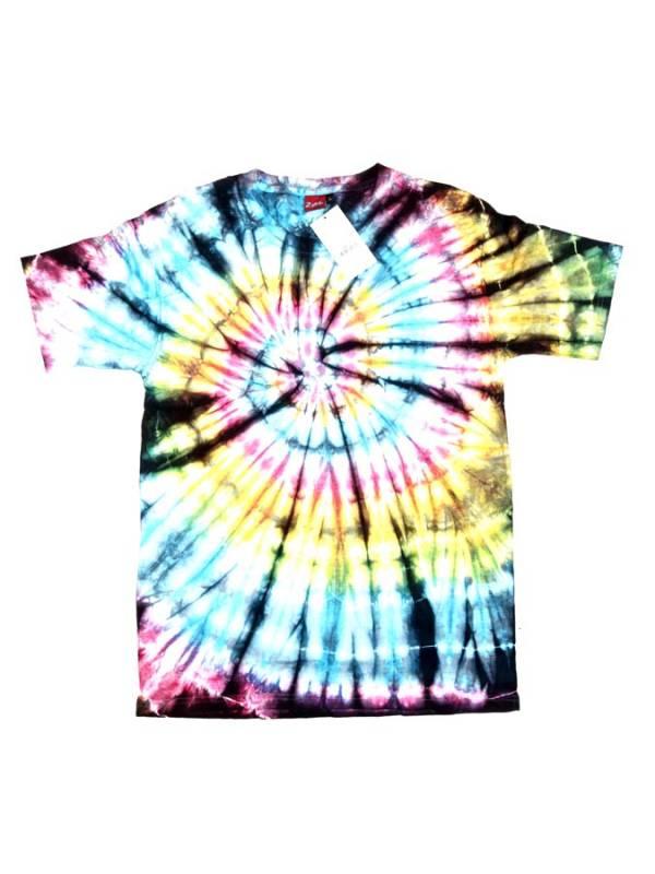 Camseta hippie Tie Dye Espiral - Negro Comprar al mayor o detalle