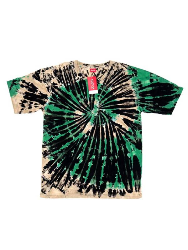 Camseta hippie Tie Dye Espiral - Verde Comprar al mayor o detalle