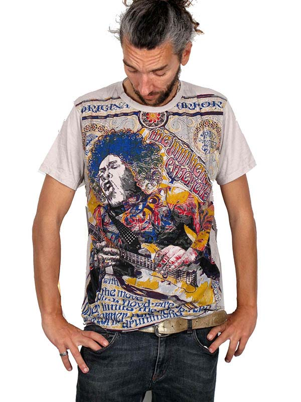 Camiseta jimmy hendirx Mirror camiseta tshirt 100% algodón eatampado Comprar - Venta Mayorista y detalle