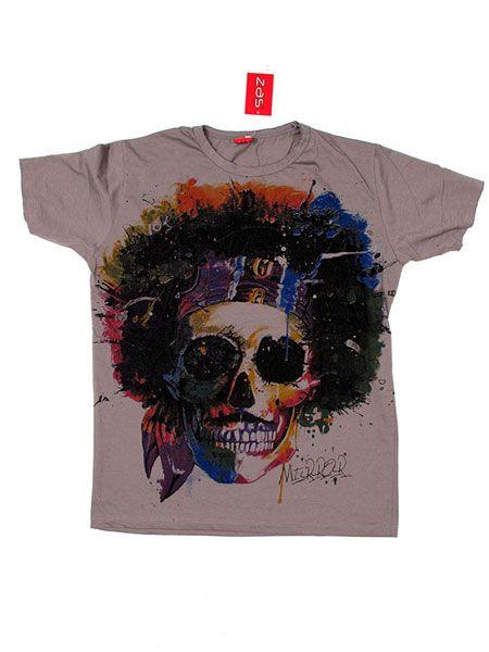 Camiseta Mirror Calavera Hippy [CMMI18] para Comprar al mayor o detalle