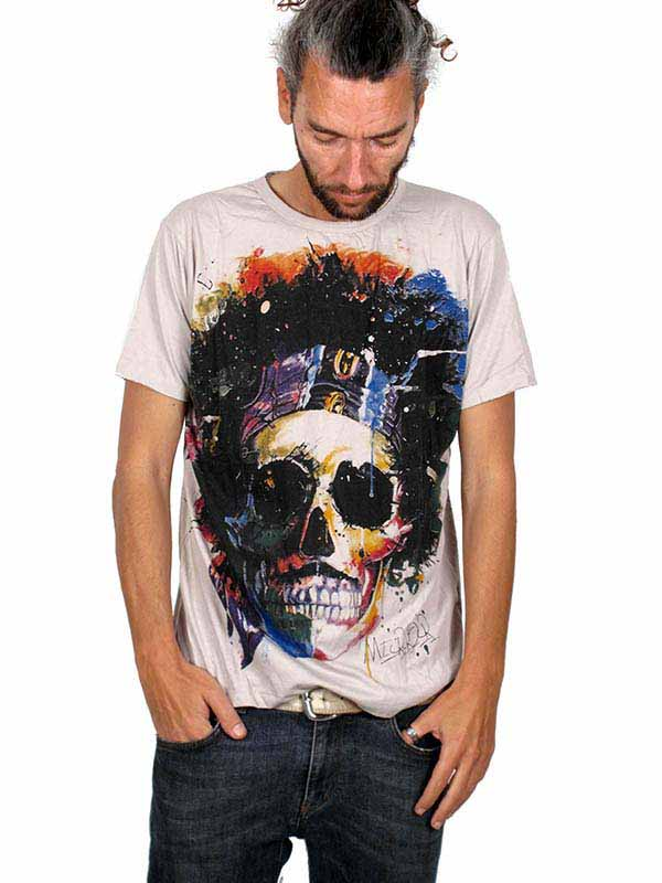 Camiseta Mirror Calavera Hippy Comprar - Venta Mayorista y detalle