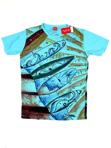 Camisetas T-Shirts - Camiseta algodón de CMMI19 - Modelo Azul