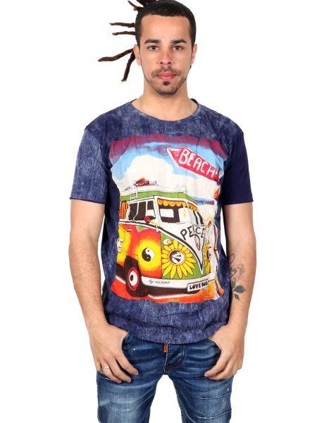 Camiseta NoTime VW Bus Beach CMNT12 para comprar al por mayor o detalle  en la categoría de Ropa Hippie Alternativa para Hombre.