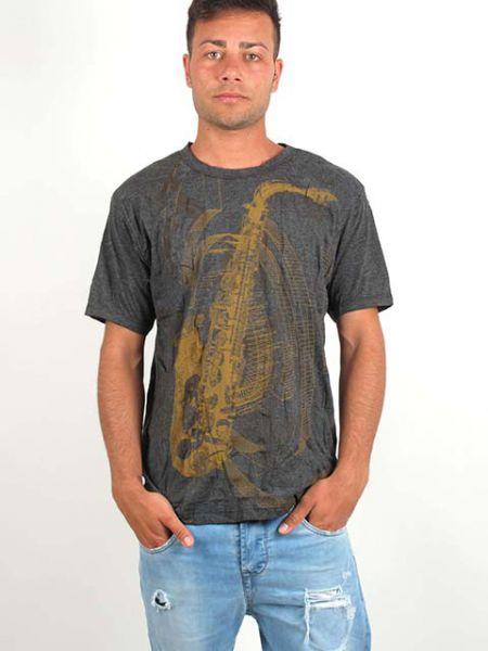 Camiseta SAXO, manga corta algodón arrugado Comprar - Venta Mayorista y detalle