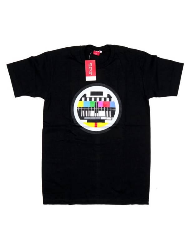 Camiseta Carta de Ajuste - Negro Comprar al mayor o detalle