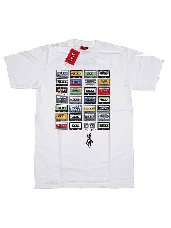 Camisetas T shirts - Camiseta Cassettes retro [CMSE03] para comprar al por mayor o detalle  en la categoría de Ropa Hippie Étnica para Chicos.