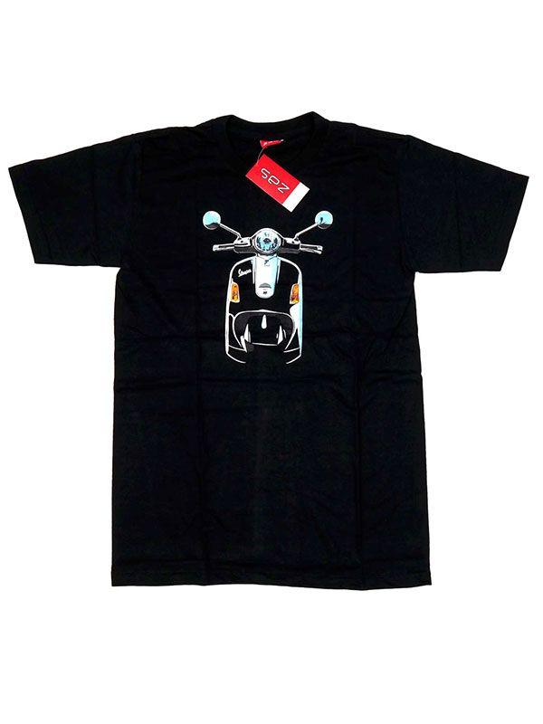 Camisetas T shirts - Camiseta moto Vespa frontal. [CMSE05] para comprar al por mayor o detalle  en la categoría de Ropa Hippie Alternativa para Hombre.