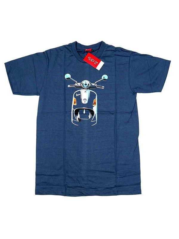 Camisetas T-Shirts - Camiseta moto Vespa frontal. CMSE05 para comprar al por Mayor o Detalle en la categoría de Ropa Hippie Alternativa para Hombre