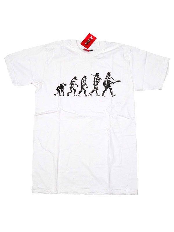 Camisetas T shirts - Camiseta Guitar Evolution [CMSE07] para comprar al por mayor o detalle  en la categoría de Ropa Hippie Étnica para Chicos.