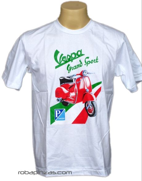 Camiseta VESPA PIAGGIO, algodón CMSE09 para comprar al por mayor o detalle  en la categoría de Ropa Hippie Alternativa para Hombre.