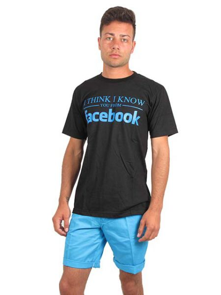 Click aquí, camiseta manga corta algodón - Detalle Comprar al mayor o detalle