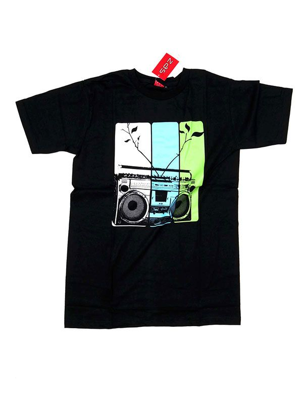 Camisetas T shirts - Camiseta Radio cassete CMSE12 para comprar al por Mayor o Detalle en la categoría de Ropa Hippie Alternativa para Hombre