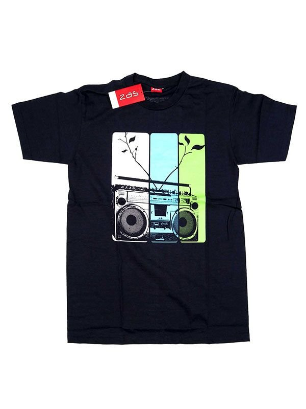 Camisetas T-Shirts - Camiseta Radio cassete [CMSE12] para comprar al por mayor o detalle  en la categoría de Ropa Hippie Alternativa para Hombre.