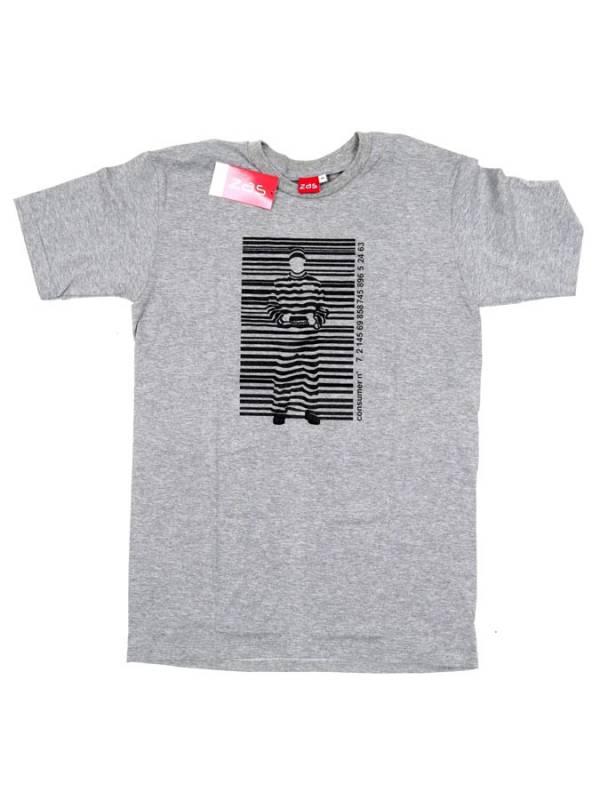 Barcode, camiseta manga corta algodón - Gris Comprar al mayor o detalle