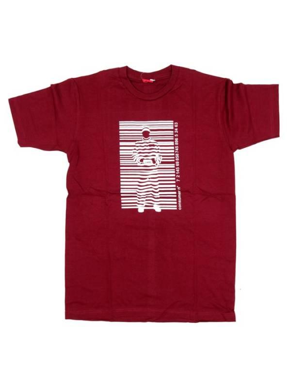Barcode, camiseta manga corta algodón - Granate Comprar al mayor o detalle
