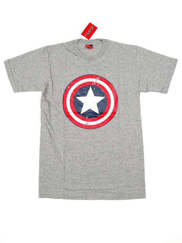Camisetas T shirts - Camiseta Capitán América [CMSE29] para comprar al por mayor o detalle  en la categoría de Ropa Hippie Alternativa para Hombre.