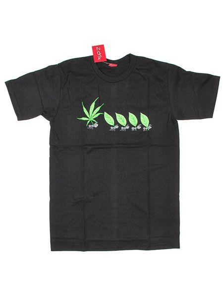 Camiseta de algodón y manga corta Estampado Ants Marihuana Comprar - Venta Mayorista y detalle