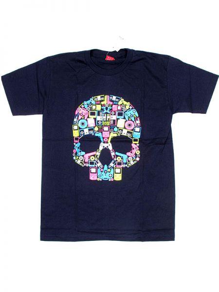 Camiseta calavera music box. [CMSE32] para Comprar al mayor o detalle