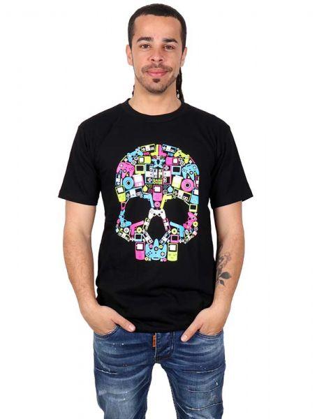 Camiseta calavera music box. Camiseta 100% algodón con estampadado Comprar - Venta Mayorista y detalle