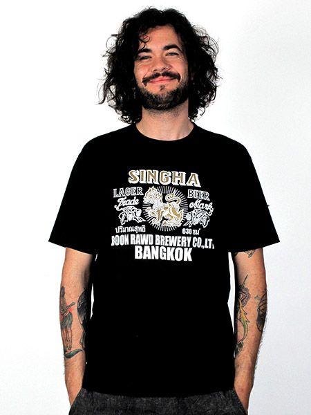 Camiseta Shingha beer, de algodón y manga corta Comprar - Venta Mayorista y detalle
