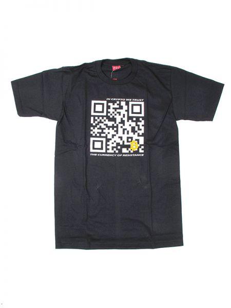 Camiseta qr bitcoin trust. camiseta de manga corta 100% algodón. [CMSE42] para Comprar al mayor o detalle