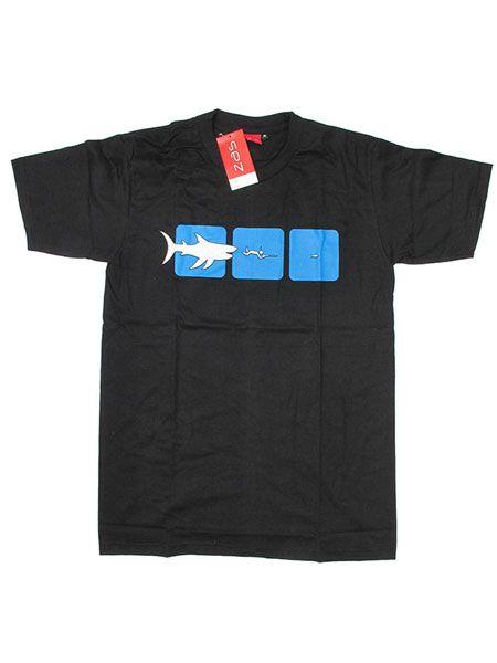 Camisetas T shirts - Camiseta Pez Grande Pez Chico CMSE44 para comprar al por Mayor o Detalle en la categoría de Ropa Hippie Alternativa para Hombre