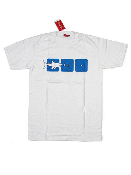 Camiseta Pez Grande Pez Chico - Blanco Comprar al mayor o detalle