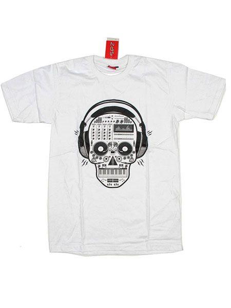 Camiseta Music Fanatic Skull [CMSE47] para Comprar al mayor o detalle