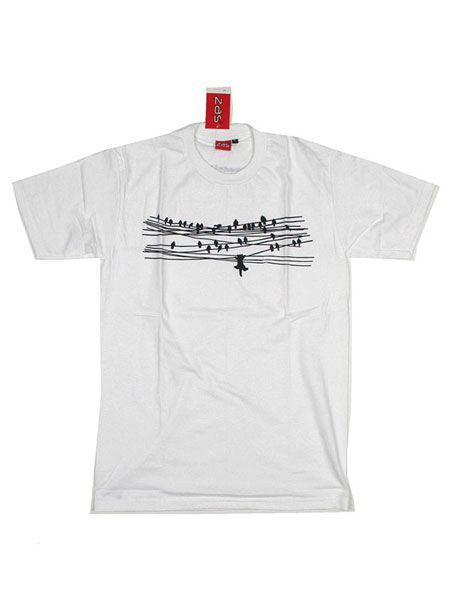 Camiseta Birds and Cat [CMSE50] para Comprar al mayor o detalle