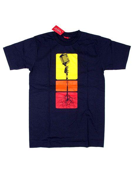 Camiseta Microphone Roots CMSE52 para comprar al por mayor o detalle  en la categoría de Ropa Hippie Étnica para Chicos.
