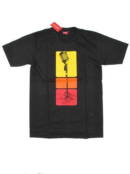Camisetas T shirts - Camiseta Microphone Roots [CMSE52] para comprar al por mayor o detalle  en la categoría de Ropa Hippie Alternativa para Hombre.