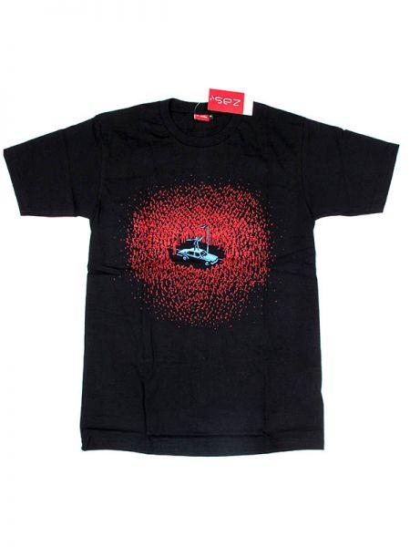 Camiseta de manga corta de algodón estampado zombi blood. Algodón Comprar - Venta Mayorista y detalle