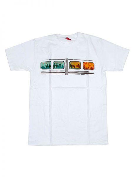 Camiseta de manga corta de algodón estampado zombi train Algodón Comprar - Venta Mayorista y detalle