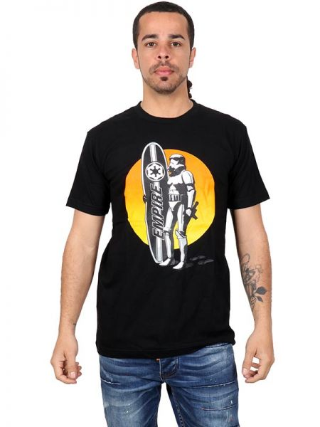 Camiseta de manga corta de algodón estampado Star War Surfer Comprar - Venta Mayorista y detalle
