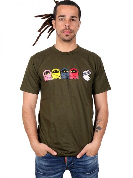 Camiseta de manga corta de algodón estampado Star Pacman Algodón Comprar - Venta Mayorista y detalle