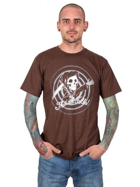 Camisetas T-Shirts - Camiseta Thats all Folks [CMSE64] para comprar al por mayor o detalle  en la categoría de Ropa Hippie Alternativa para Hombre.