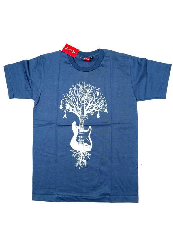 Camiseta Guitar Tree Roots - Azul Comprar al mayor o detalle