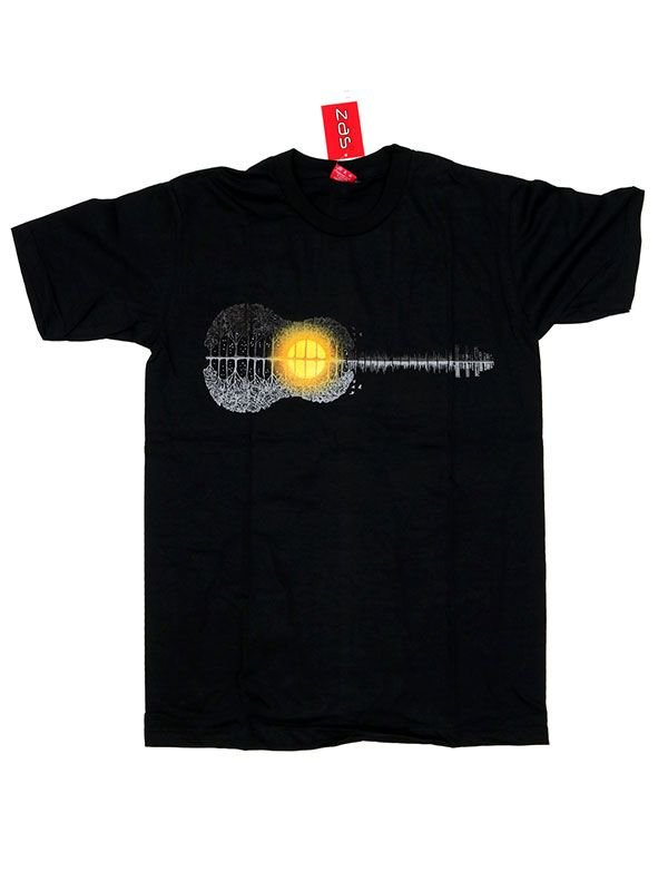 Camiseta Guitar Forest Sunset [CMSE73] para Comprar al mayor o detalle