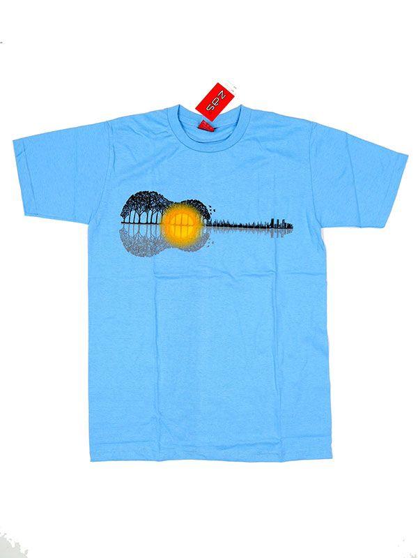 Camiseta Guitar Forest Sunset [CMSE73] para Comprar al mayor o detalle