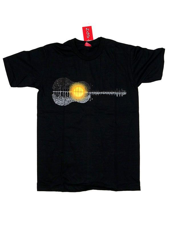 Camisetas T shirts - Camiseta Guitar Forest Sunset [CMSE73] para comprar al por mayor o detalle  en la categoría de Ropa Hippie Alternativa para Hombre.