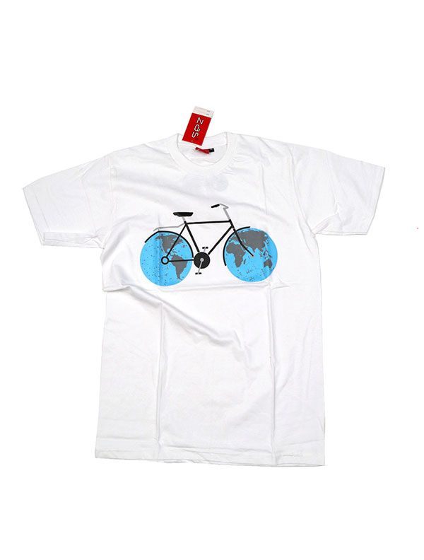 Camiseta Bicicle World [CMSE74] para Comprar al mayor o detalle