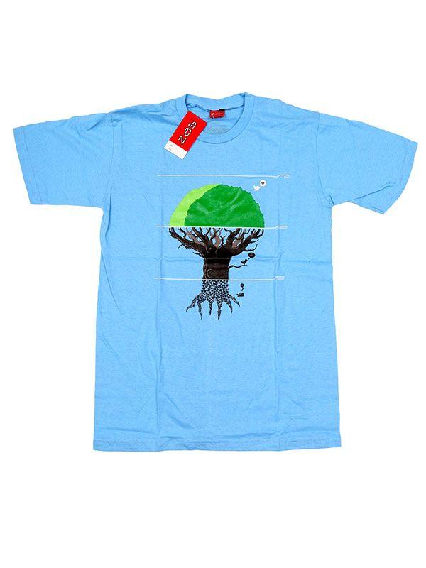Camisetas T shirts - Camiseta Tree eco World [CMSE76] para comprar al por mayor o detalle  en la categoría de Ropa Hippie Alternativa para Hombre.