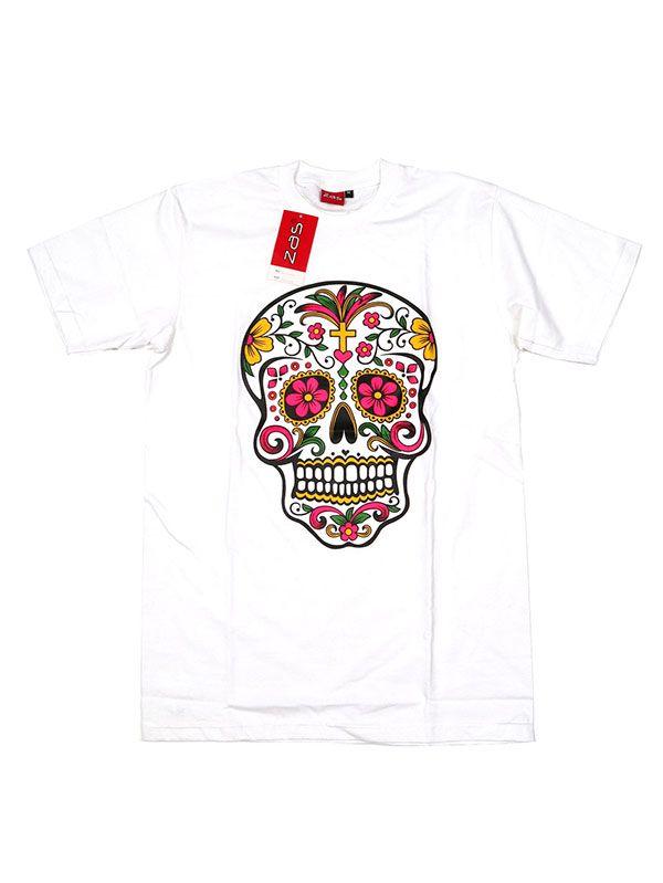 Camisetas T shirts - Camiseta Mexican Skull [CMSE78] para comprar al por mayor o detalle  en la categoría de Ropa Hippie Alternativa para Hombre.