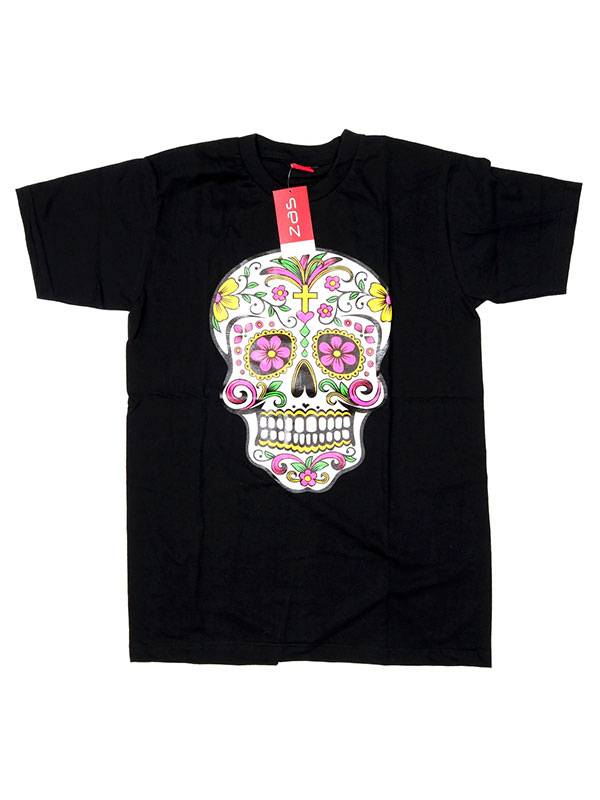 T-Shirts T-Shirts - Mexican Skull T-shirt CMSE78 to buy Wholesale or Detail in the category of Hippie Clothing for Men