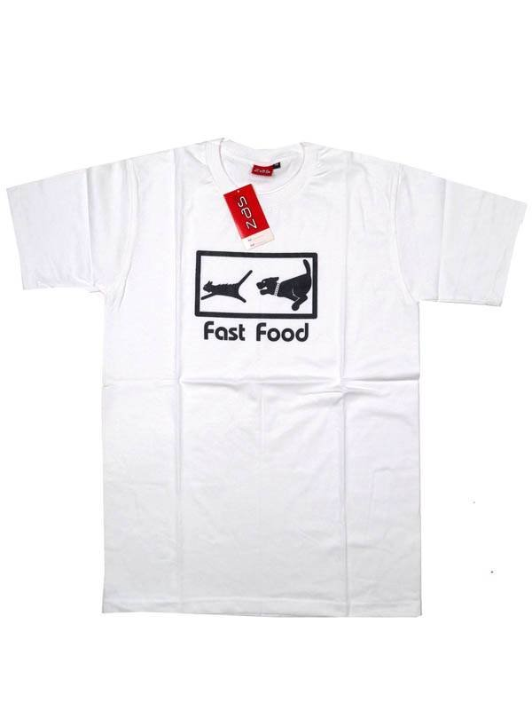Camiseta Fast Food - Blanco Comprar al mayor o detalle