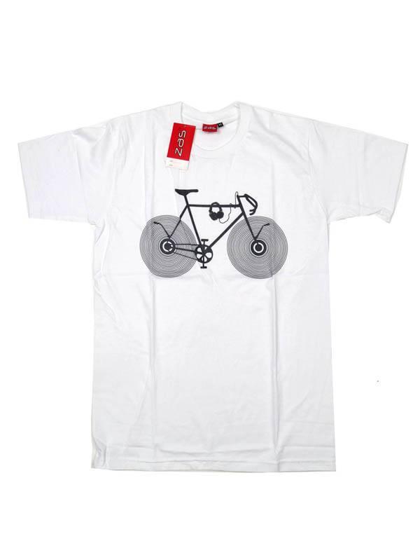 Camiseta Vinile Bike - Blanco Comprar al mayor o detalle