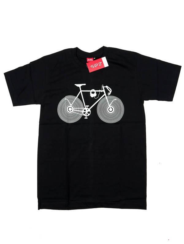 Camisetas T-Shirts - Camiseta Vinile Bike CMSE83 para comprar al por Mayor o Detalle en la categoría de Ropa Hippie para Hombre