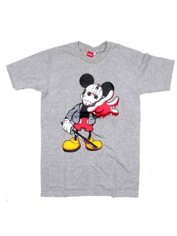 Camiseta Vinile Scary Mickey - Gris Comprar al mayor o detalle